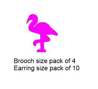 Brolga Brooch or earring size acrylics see drop down box for ord